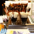 Stock Photo: Painting brushes in Art Shop