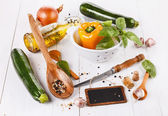 Food concept - cooking vegetables  — Stock Photo