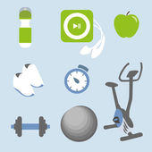 Fitness icons set — Stockvector