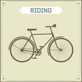 Vintage bike retro illustration — Vecteur