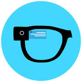 Smart hipster glasses icon — Stock Vector