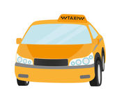 Taxi yellow car isolated on white — Stock Vector