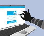 Hacking account of social networking. — Vector de stock