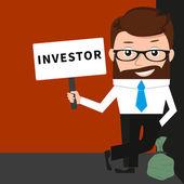 Lucky businessman as investor — Vecteur