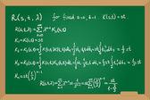 Resolvent kernel using Neumann Series method hand drawn on green board — Stock Vector