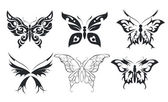 Print set of six stylize butterfly — Stock Vector
