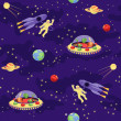 Seamless baby pattern Space travel — Stock Vector