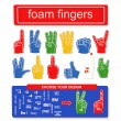 Foam finger set — Stock Vector #47741939