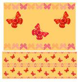 Modèle sans couture de papillons rouges — Vecteur
