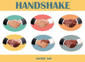 Handshake set — Stock Vector