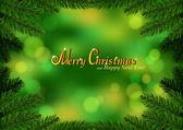 Christmas fir frame green background — Stock Vector