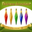 Постер, плакат: Christmas ornaments Collection of decorative icicles