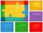 Puzzle background set — Stock Vector