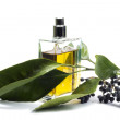 Bottle of perfume, personal accessory, aromatic fragrant odor — Foto de stock #41440563