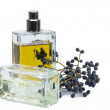 Bottle of perfume, personal accessory, aromatic fragrant odor — Foto de stock #41440667