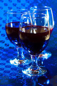 Wine and wine glasses — Stock Photo