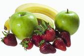 Owoce na białym tle — Zdjęcie stockowe
