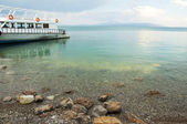 View of the passenger ship from the island of Akdamar — Stock Photo