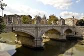 Sant Angelo's Bridge with Bernini's statues, Rome, Italy — Stock Photo