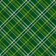 Stock Vector: Plaid Fabric on green background. Seamless vector pattern.