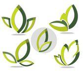 Yeşil yaprak vektör kavramı — Stok Vektör