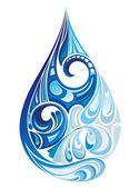 Kropli wody. ilustracja wektorowa — Wektor stockowy