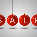 vánoční prodej koule — Stock fotografie
