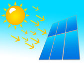 Solar panel icon — Stock Photo