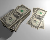 Nota de dólar bancos — Fotografia Stock