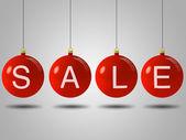 Christmas sale balls — Stock Photo
