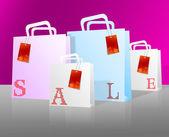 Satılık alışveriş torbaları — Stok fotoğraf