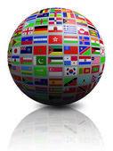 Globus flagi — Zdjęcie stockowe