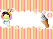 Ice cream  background — Stock Photo