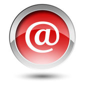 Red mail button — Stock Photo