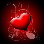 Shining red heart — Stock Photo