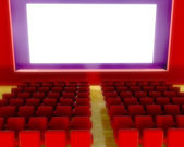 Cinema auditorium — 图库照片