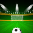 Football field with ball — Foto de Stock
