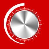 Volumeknop op rood — Stockfoto