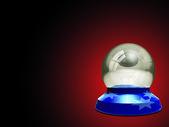 Empty crystal ball — Stock Photo
