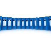Row of File folders — Stock Photo