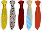 Set of different ties — Stock Photo