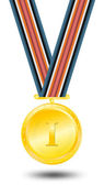 Winning first place medal — Stock Photo