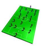 Football teams formation — Stock fotografie