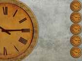 Clock dials background — Stock Photo