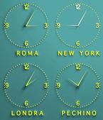Clocks displaying time — Stock Photo