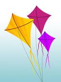 Colorful Kites set — Foto Stock
