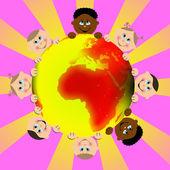 世界各地的儿童 — 图库照片