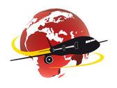 глобус дизайн с самолета — Стоковое фото