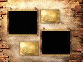 Blank black posters — Foto Stock