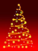 Stylized Christmas tree — Stock Photo